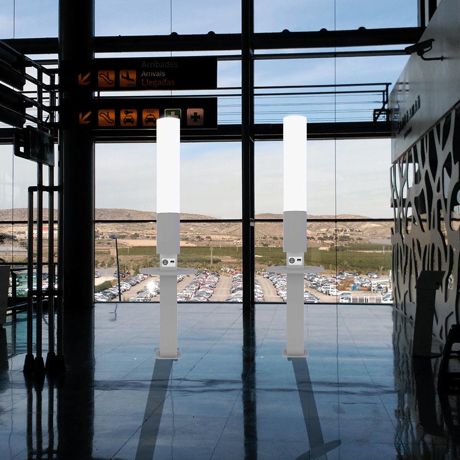 Yupcharge Cargadores para móviles Smart Furniture - Aeropuertos Folk luminiscencia sala embarque