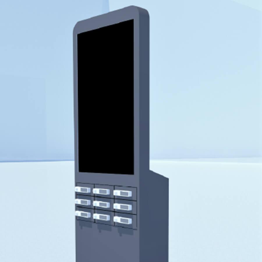 Cargador para móviles Taquilla de carga Twist DS 50 Yupcharge detalle