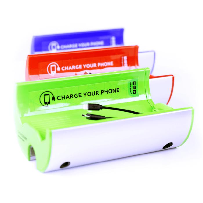 Yupcharge cargador para móviles Carro de la compra ChargeTrolley colores