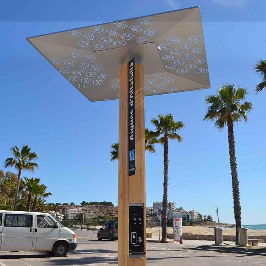 Yupcharge Cargadores energía verde para ciudades SmartFurniture Soleo Hidráulica Altafulla