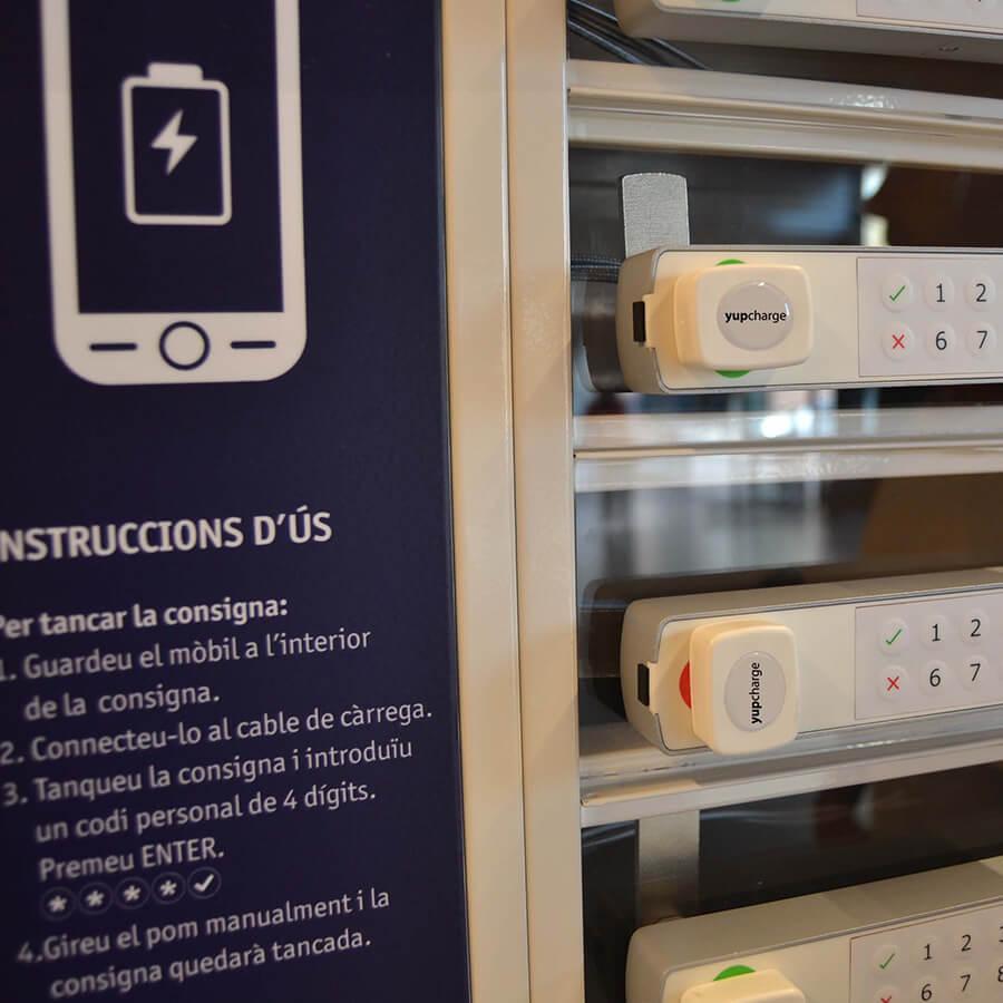 Yupcharge Cargador para móviles Taquilla de carga PopMini BonPreu