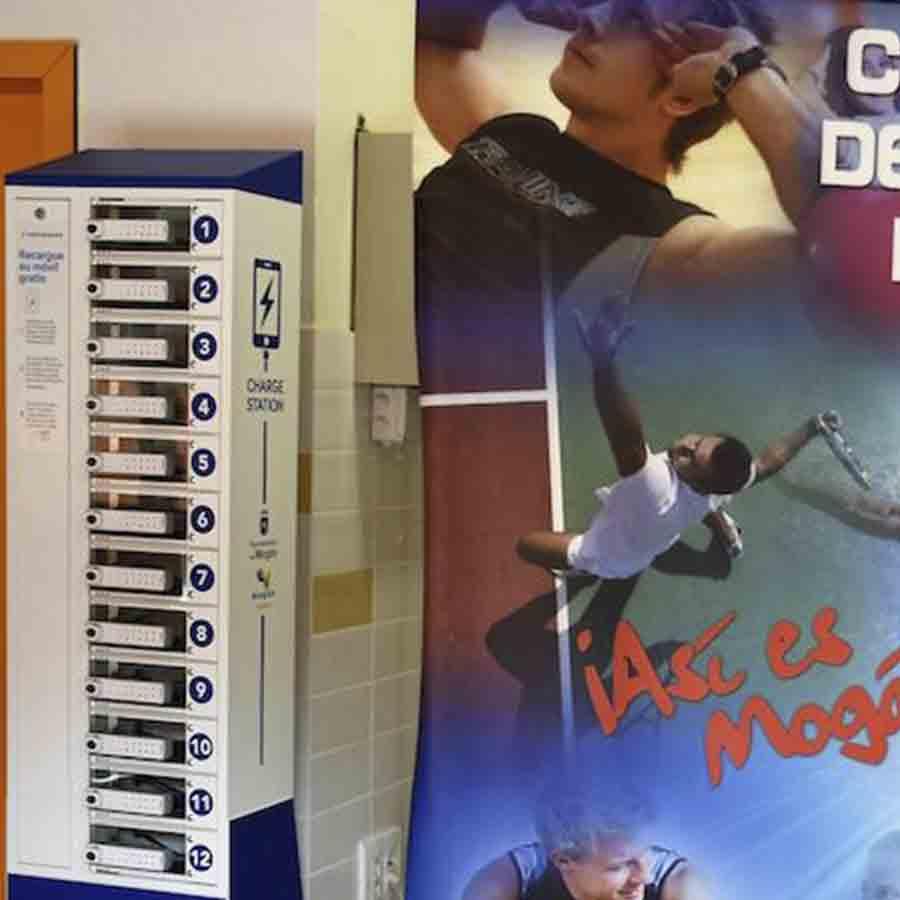 Yupcharge estación de carga Taquilla para móviles-Twist-ERGO ayuntamiento Mogan