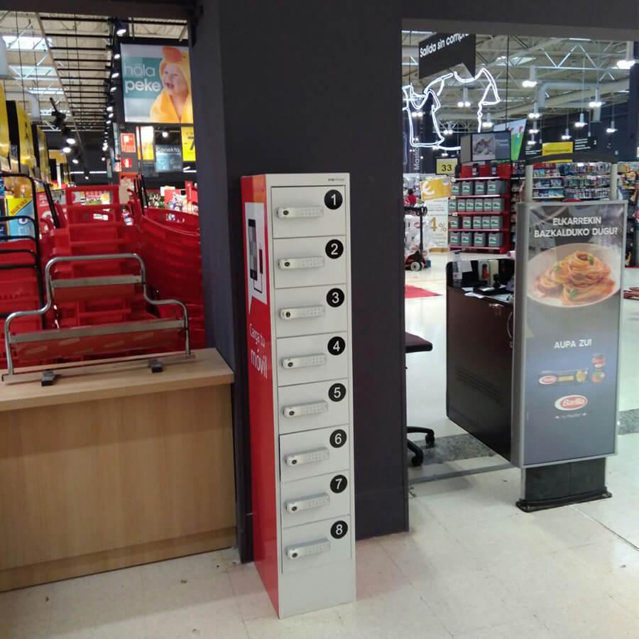 Yupcharge Cargador para móviles Taquilla de carga PopRock Eroski