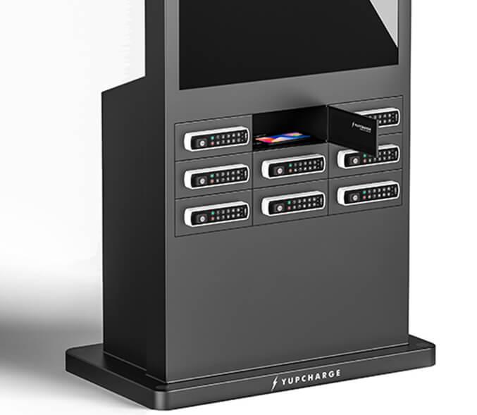 Cargador para móviles Taquilla de Carga Twist DS 50 cierre keypad y pantalla dual gran formato.