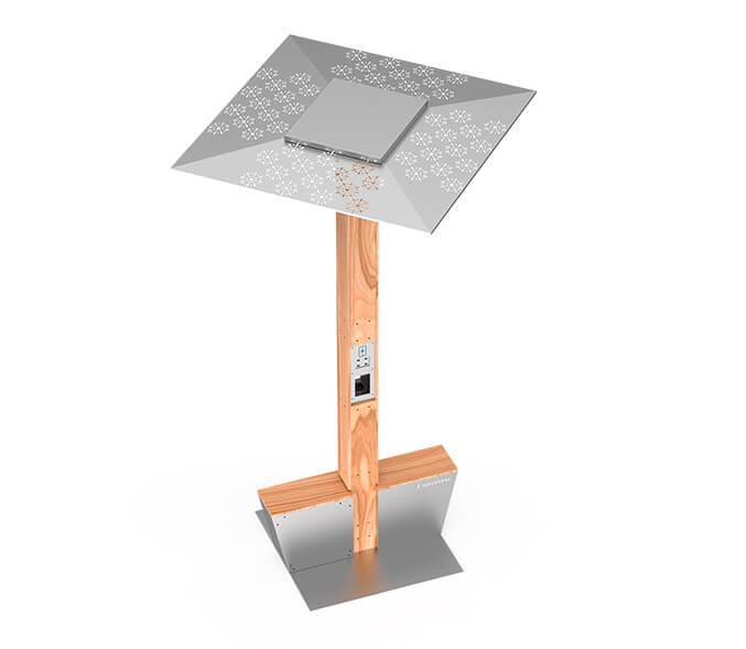 Yupcharge Cargadores para móviles SmartFurniture Soleo Solar render