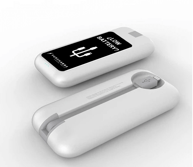 Yupcharge Cargador para móviles sobremesa Blues v3 con publicidad para retailers