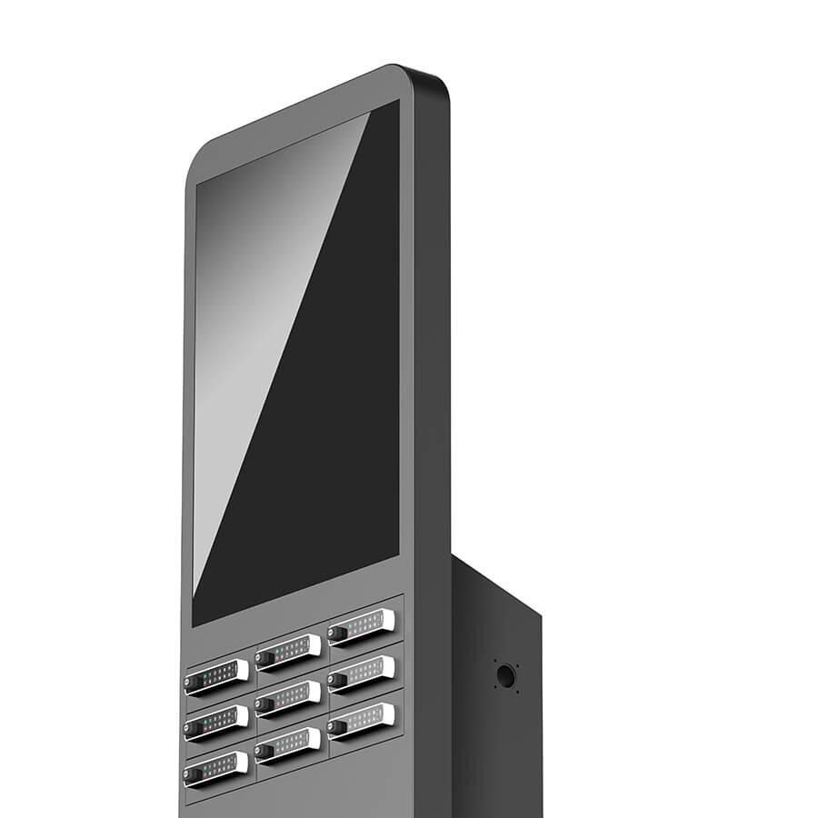 """Yupcharge Cargador para móviles Taquilla de carga Twist DS 50"""" con keypad electrónico en sus 9 casilleros"""