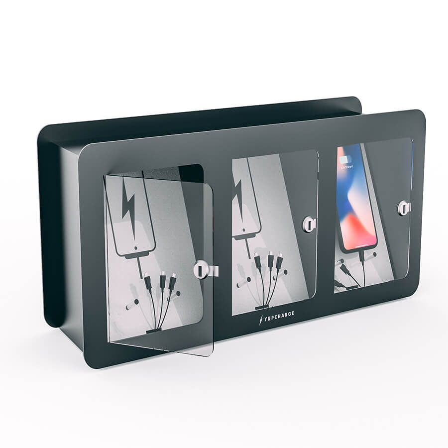 Yupcharge Cargador para móviles Taquilla de carga Soul 3 casilleros 1