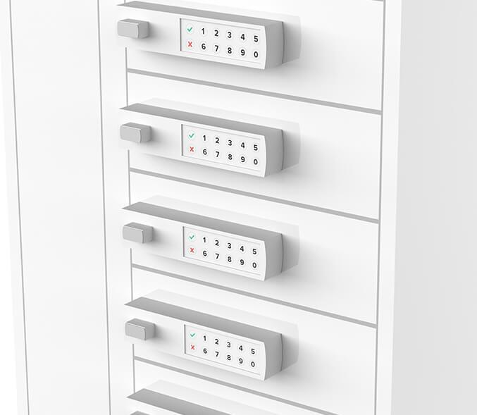Yupcharge Cargador para móviles Taquilla de carga PopMini ERGO Render