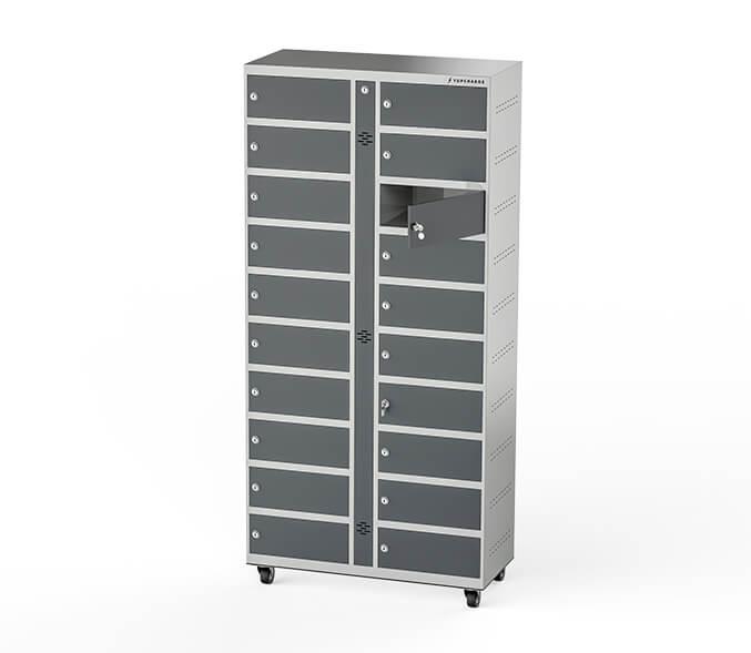 Yupcharge Cargadores para móviles Taquillas de carga Wall ERGO render puertas