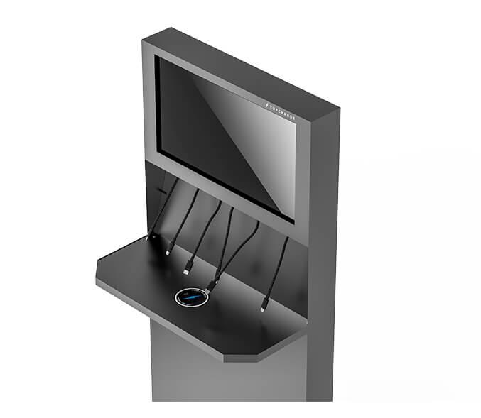 Yupcharge Cargadores para móviles Totem de carga Hip Hop ERGO Render Wireless