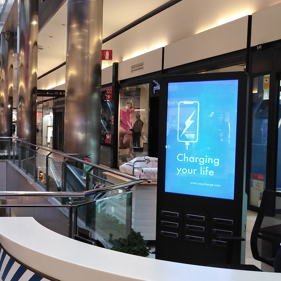 Yupcharge Taquillas de carga para móviles TwistDS50 CC Parc Central
